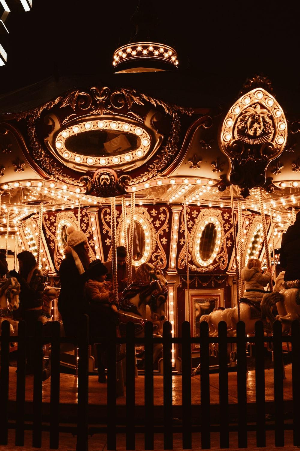people riding Mary-Go-around