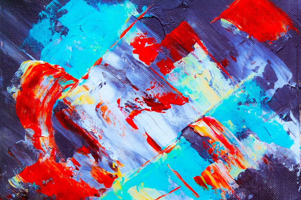 multicolored asbtract painting