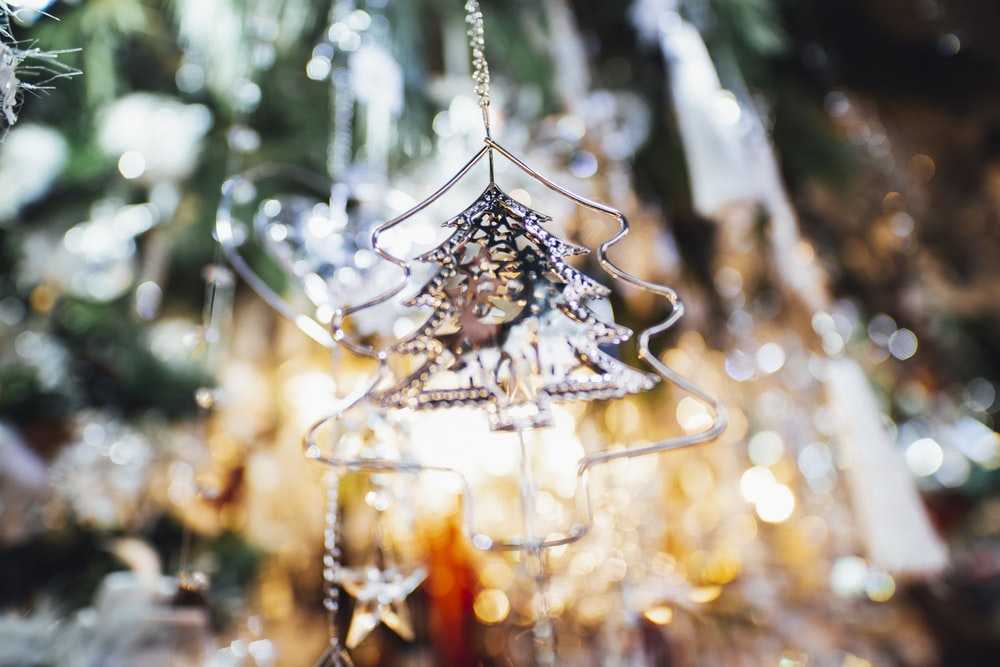 close-up photo of Christmas tree ornament