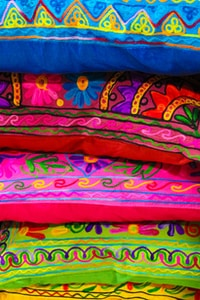 stack of multicolored pillows