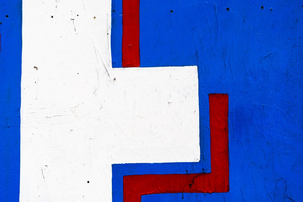 blue and orange wooden board