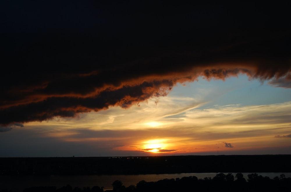 horizon during sunset