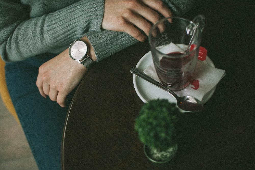 empty glass mug on tabe