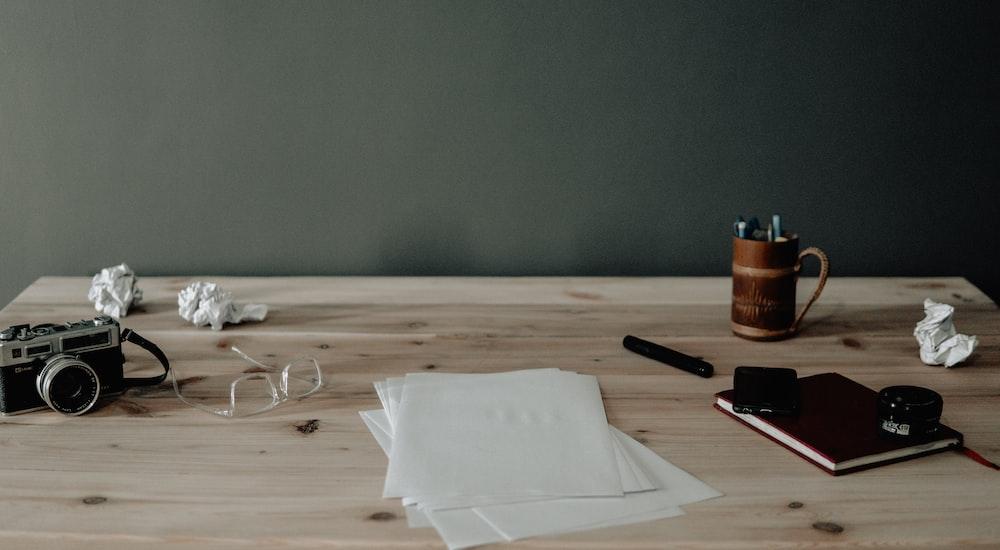 white printer paper on tabletop