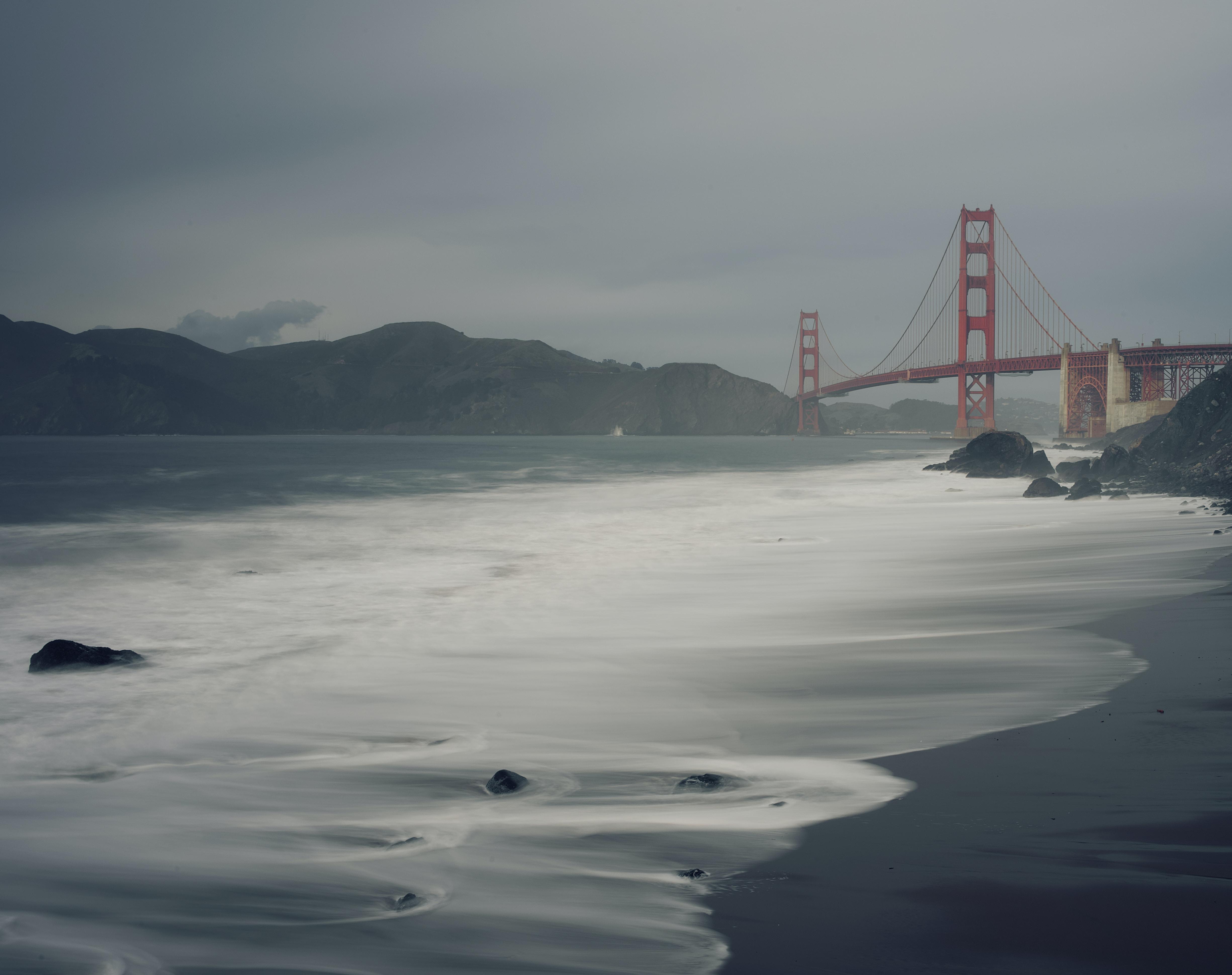 Golden Gate Bridge, San Francisco grayscale photography