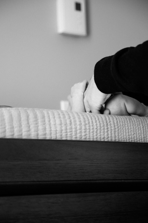 black and white fabric sofa