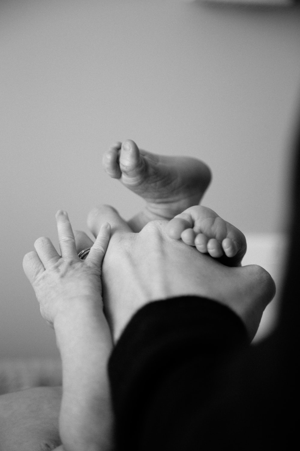 person holding baby