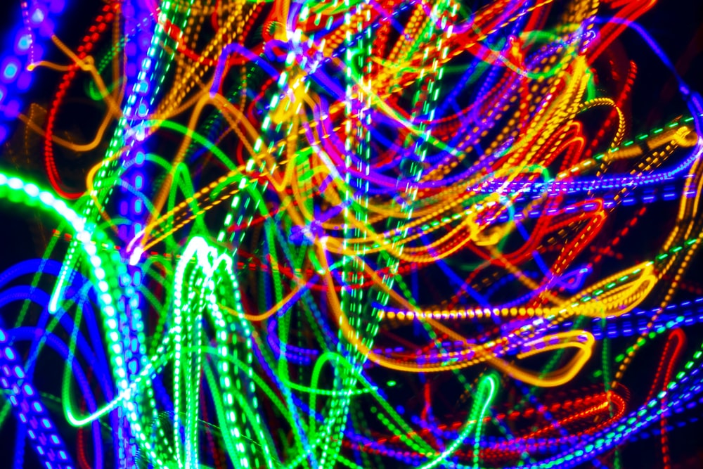 multicolored LED strip light