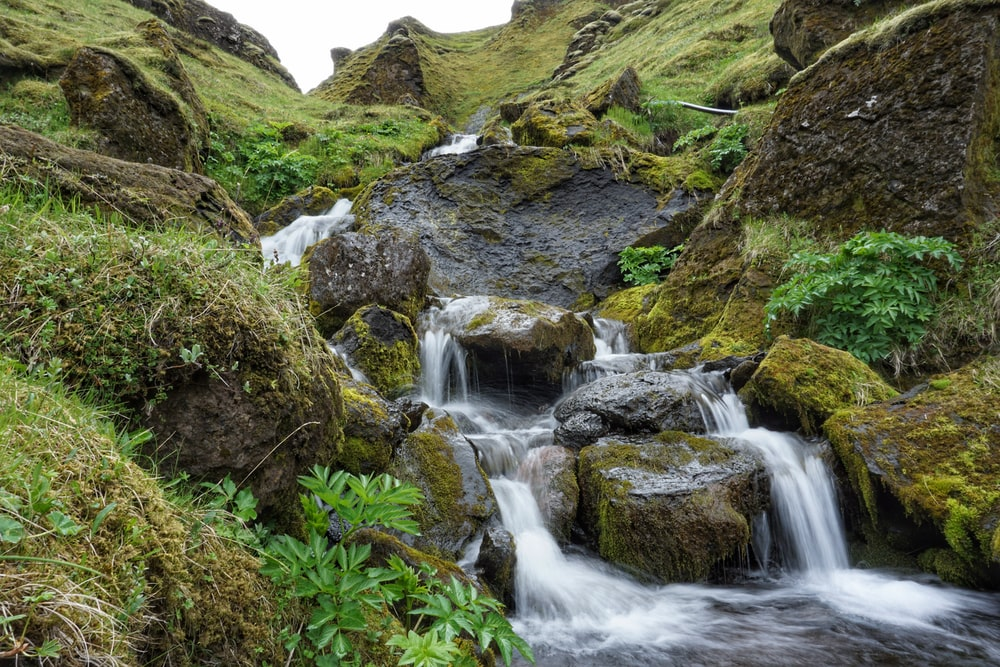 rocks along river