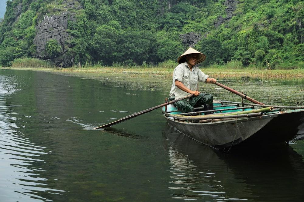 person in boat