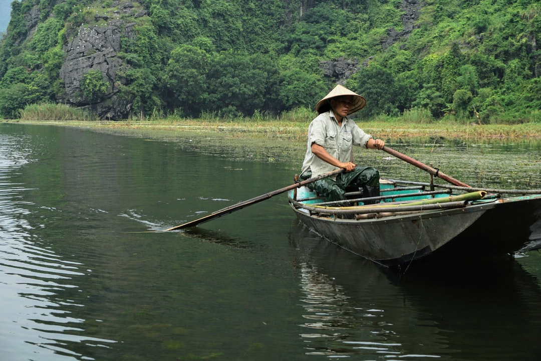 On the River in Tam Coc, Vietnam