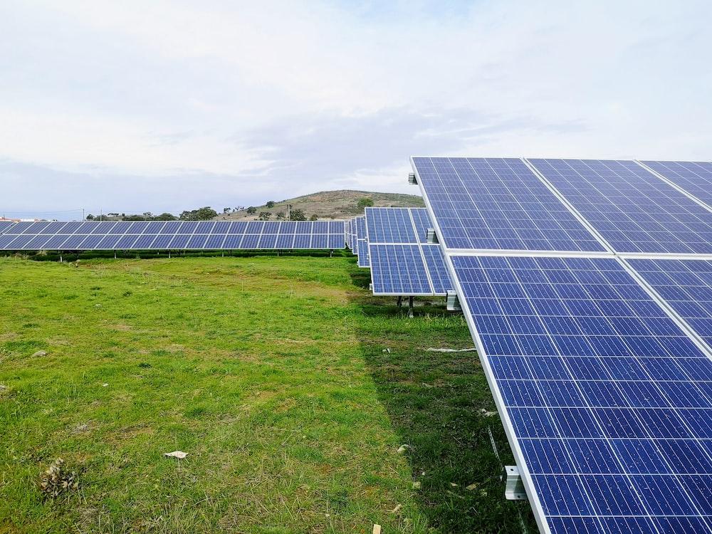 solar panels during daytime