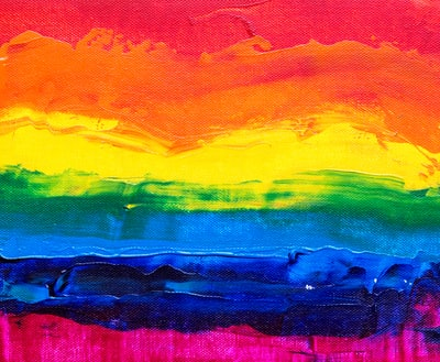 multicolored abstract painting rainbow zoom background