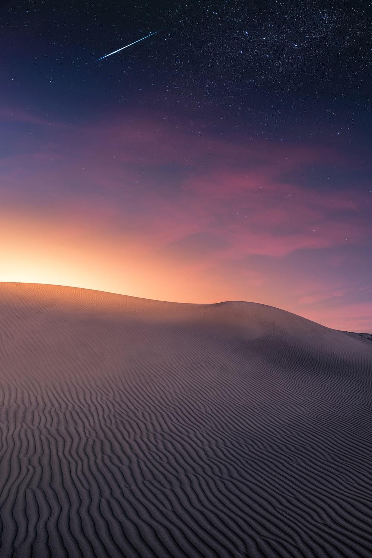 gray desert front of sunlight