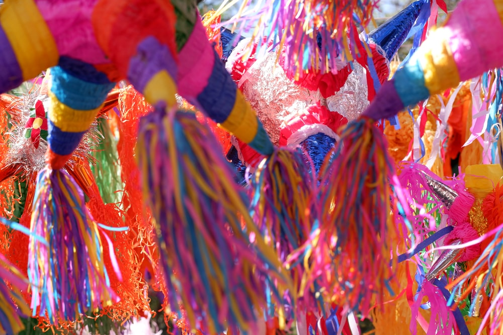 multicolored lanterns