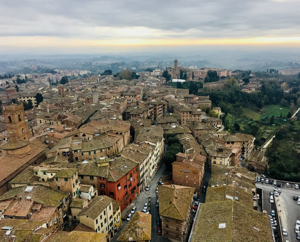aerial photography of Siena in Italy during daytime