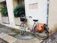 orange and black cruiser bike