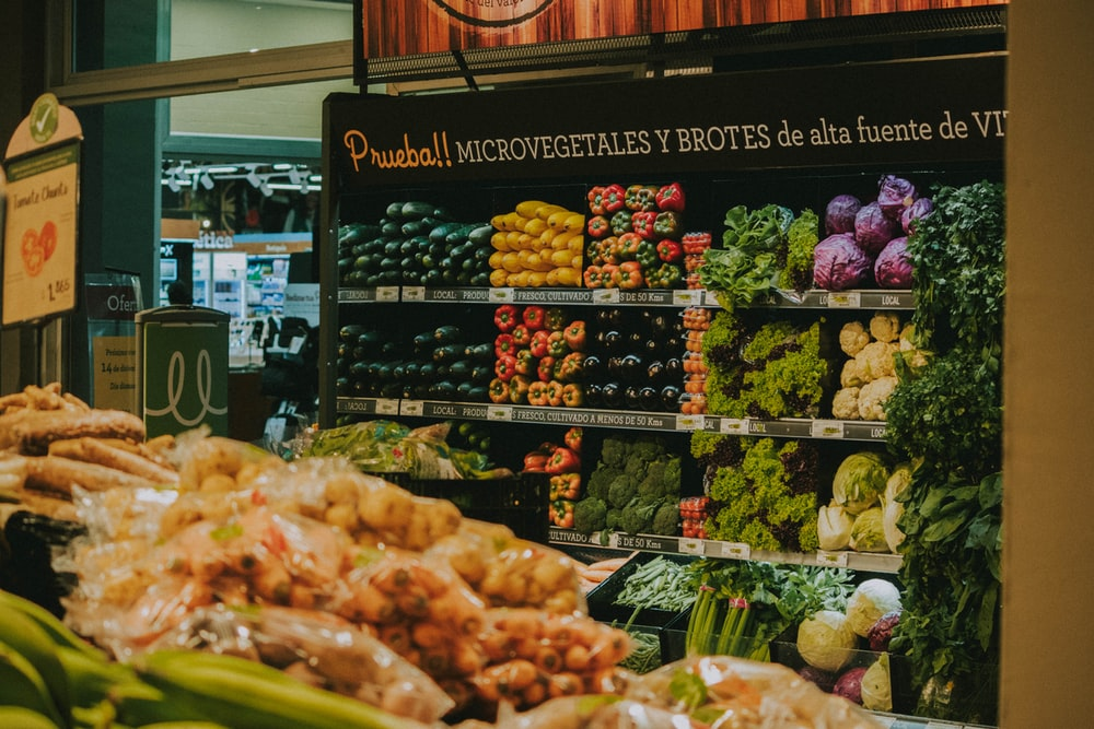 assorted variety vegetables on rack