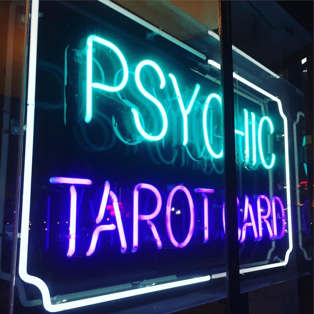 Psychic Tarot Card LED light