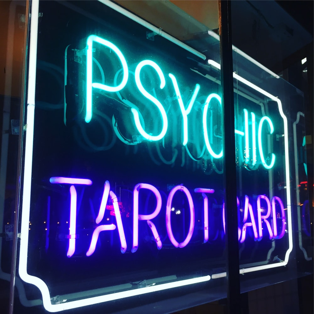 Psychic Tarot Card LED light