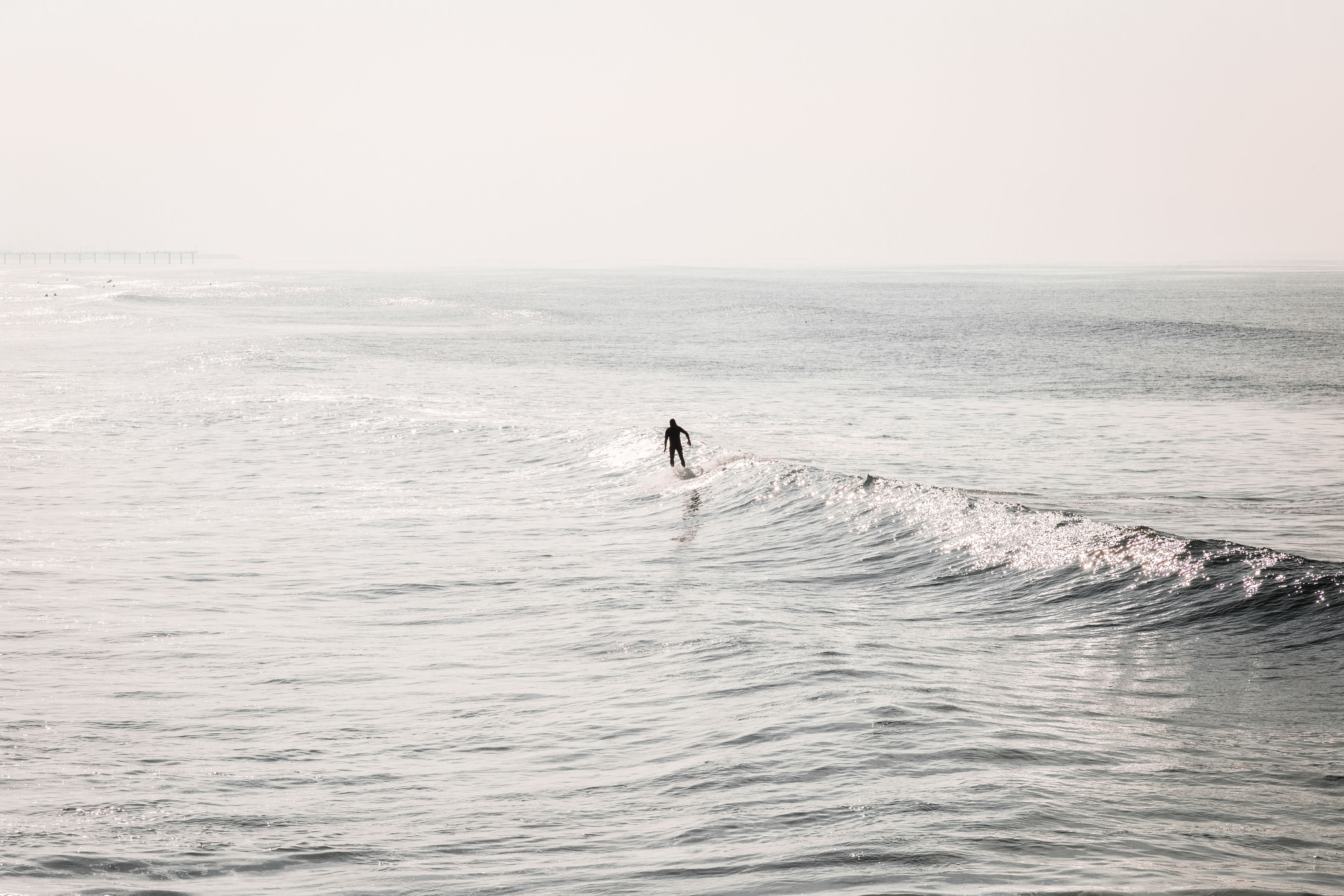 person on surfing board