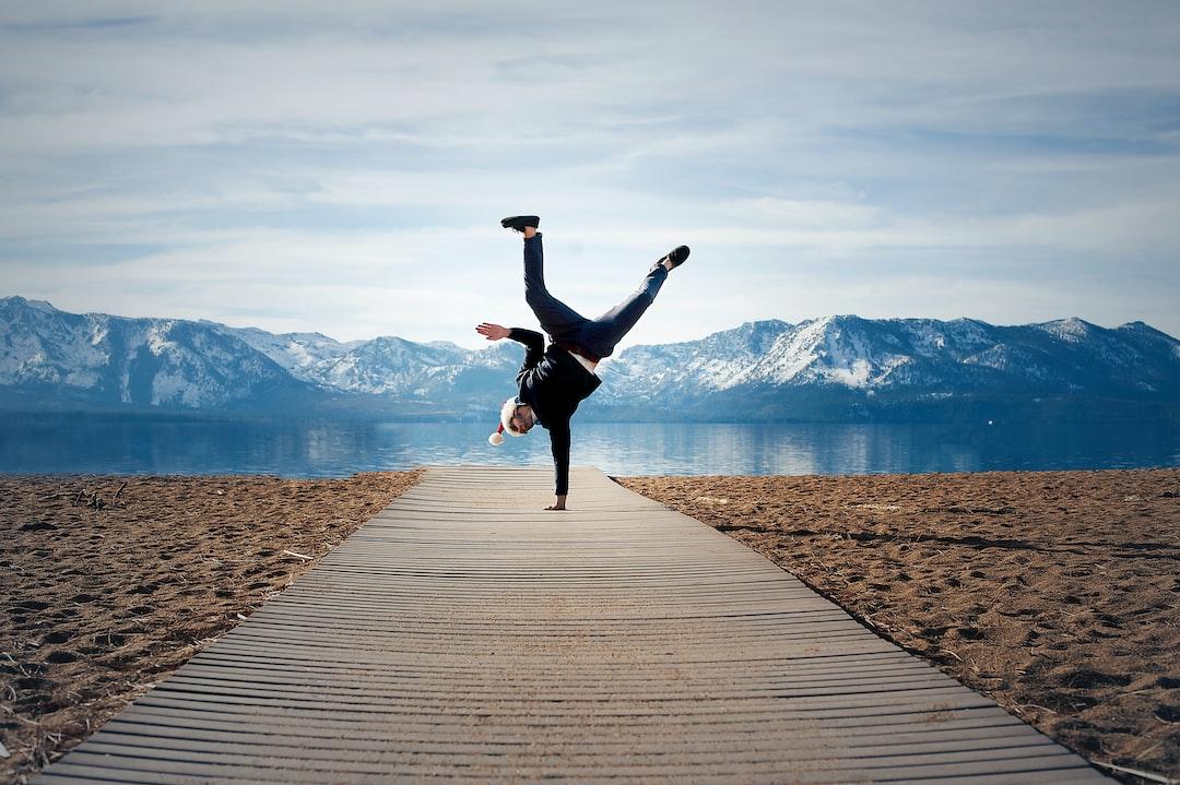nevada beach lake tahoe one handed hand stand dec 2018