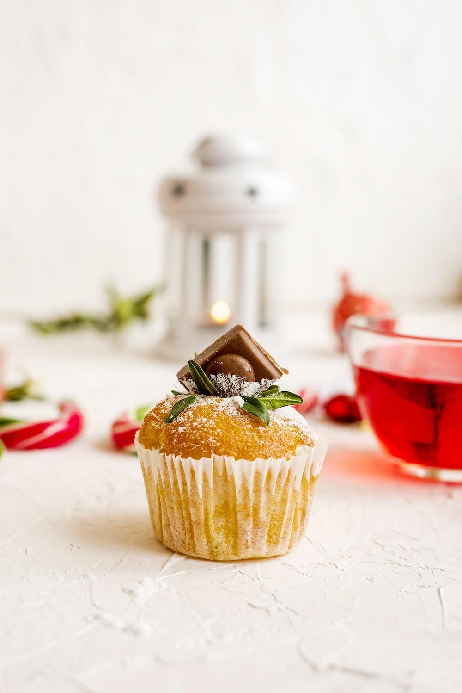 cupcake on white surface