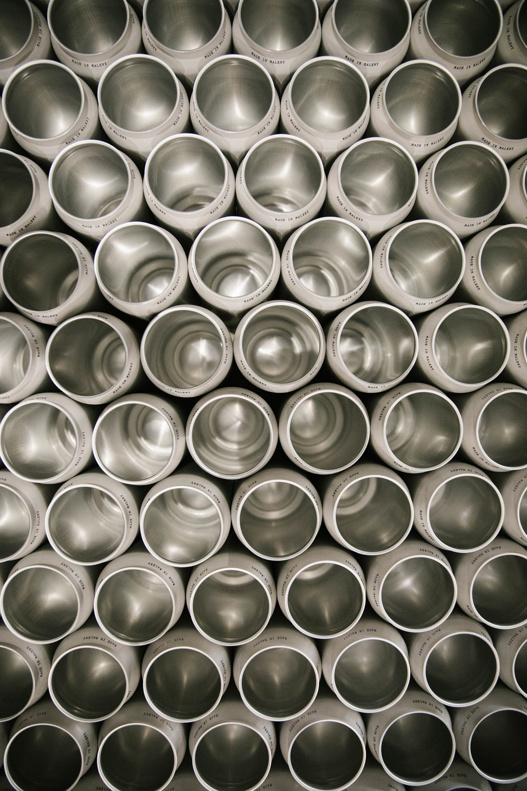 Cans ready to be filled with Brouhaha Brewery Strawberry Rhubarb Sour
