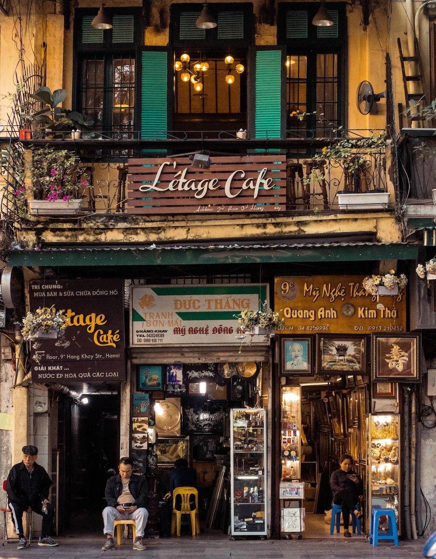 front of Litage Café
