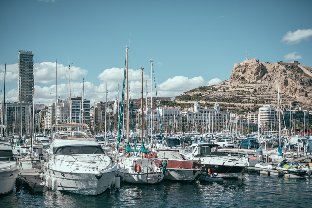 yachts docked on harbor