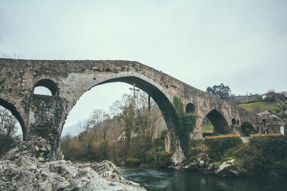 brown stone bridge photo