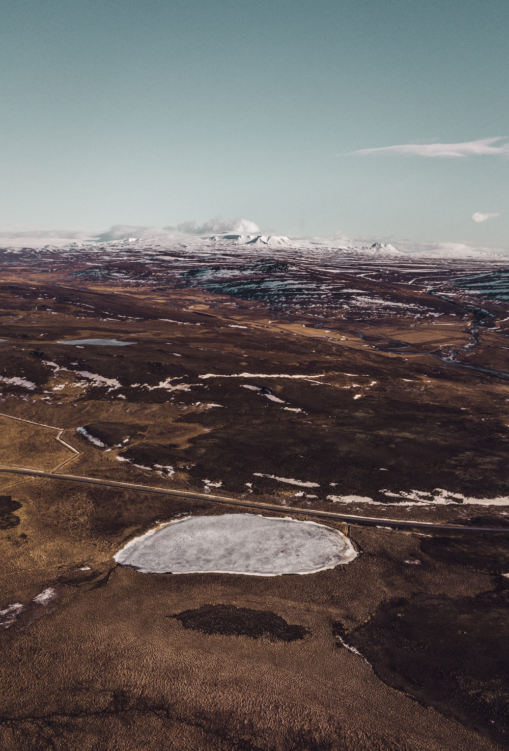 aerial photo of mountains