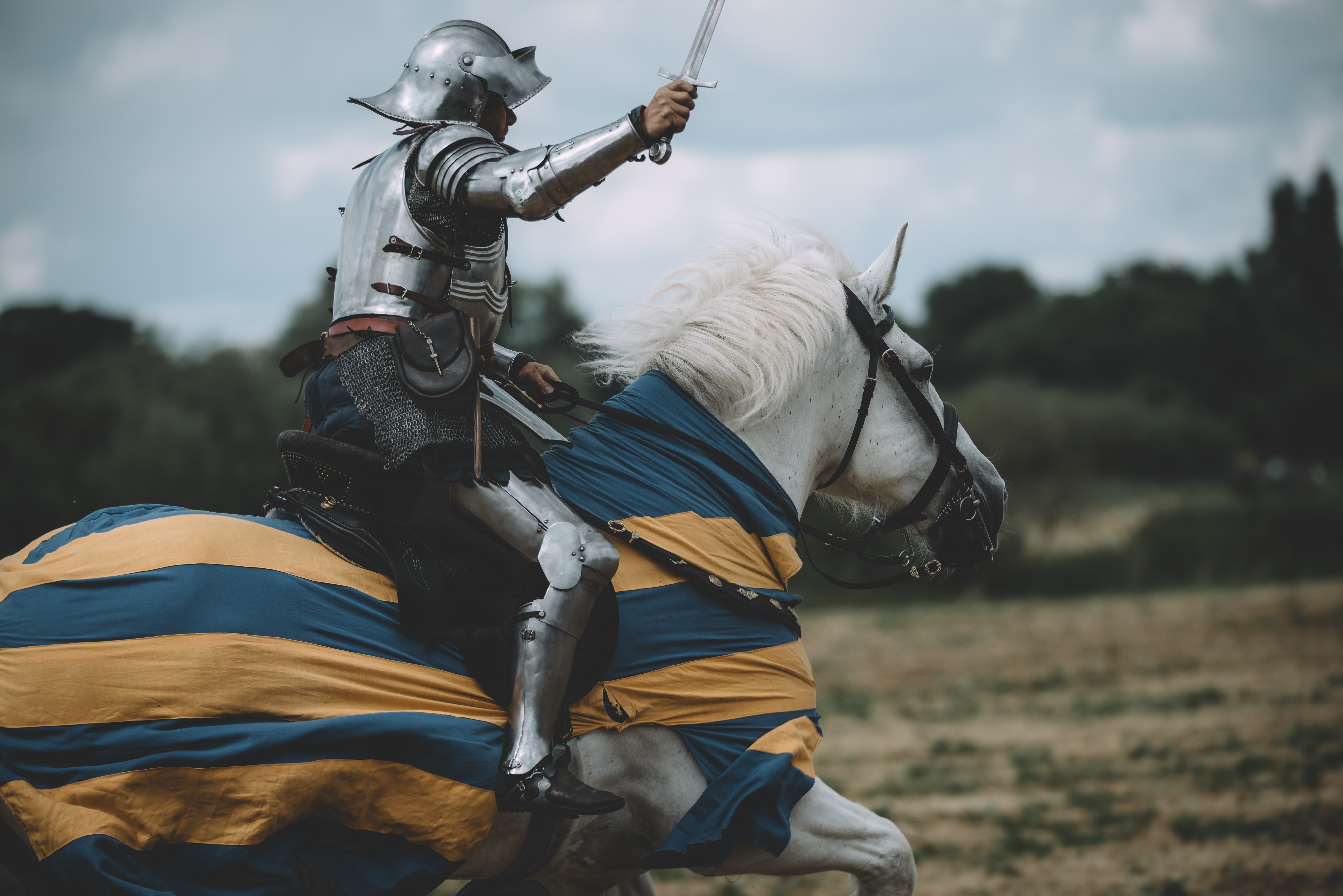 knight riding on horse