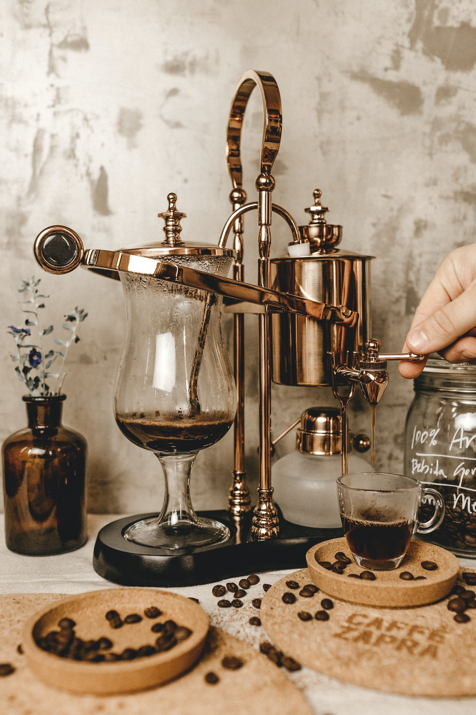 gray stainless steel coffeemaker