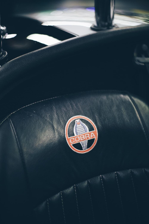 black Cobra leather car seat