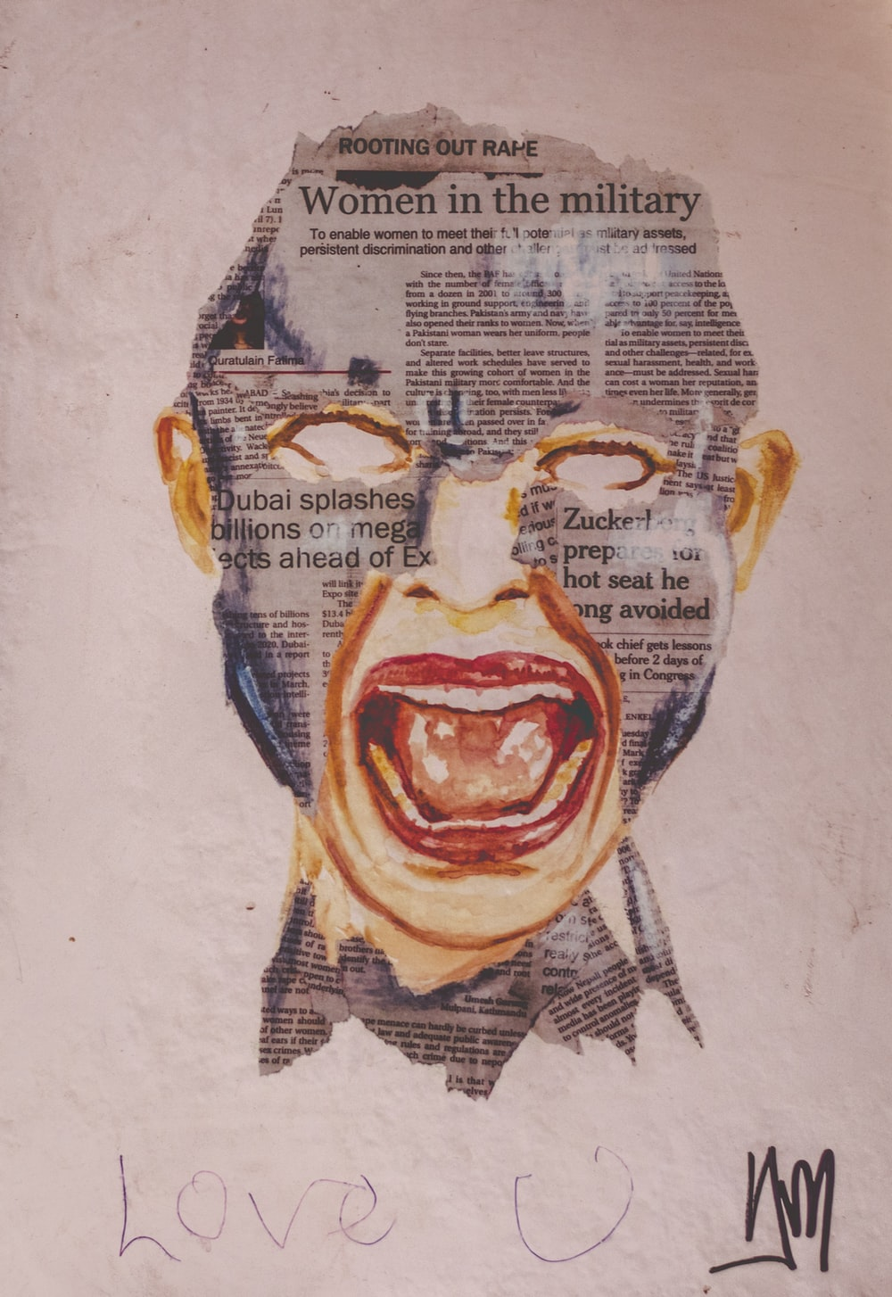 human face artwork