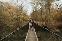 two people on bridge