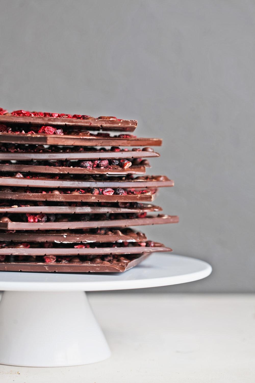 chocolates on plate
