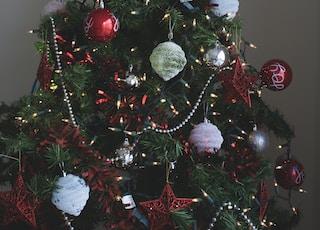 Christmas tree and Christmas baubles