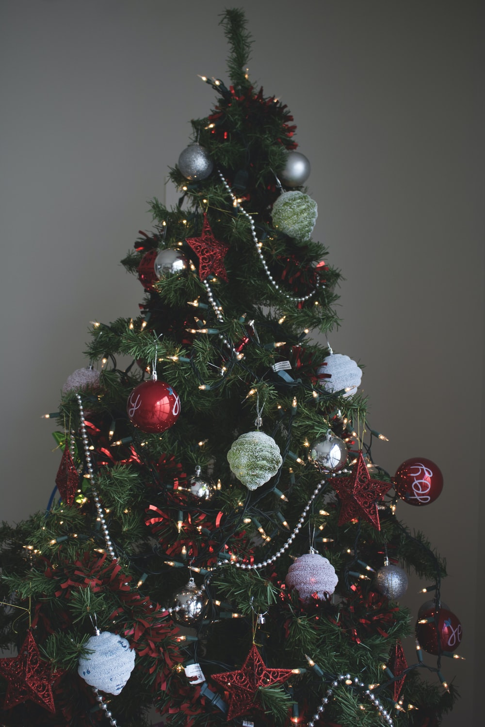 Christmas tree and Christmas baubles