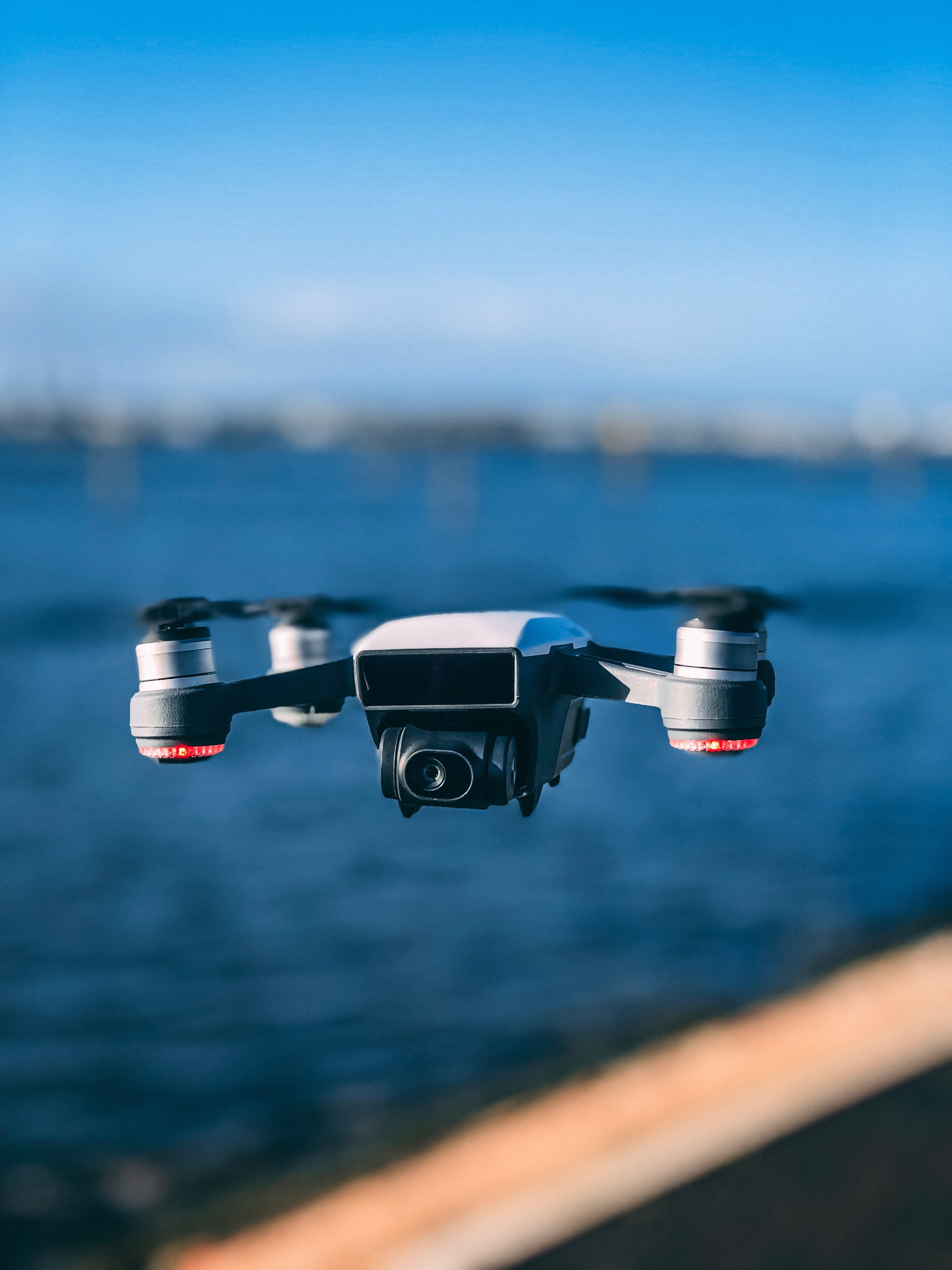 time-lapse photography of DJI drone in flight