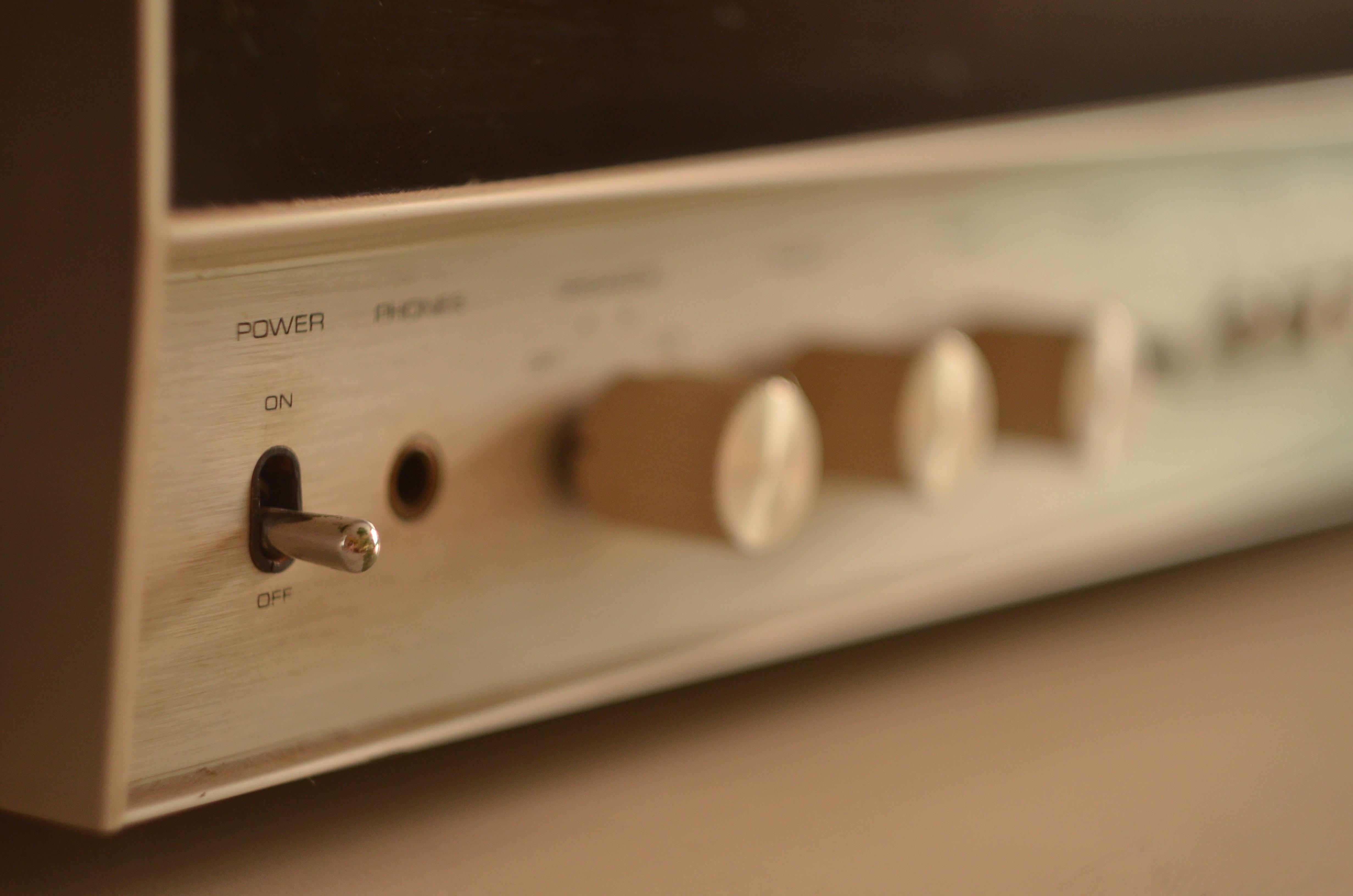 gray audio component
