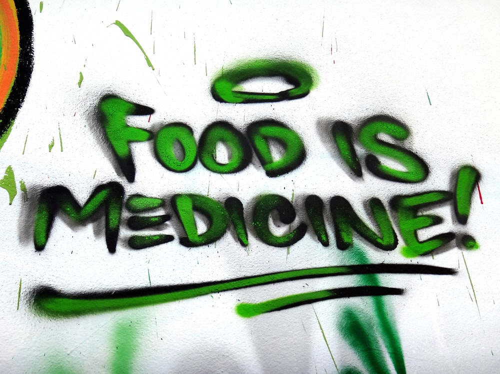 green food is medicine! graffiti