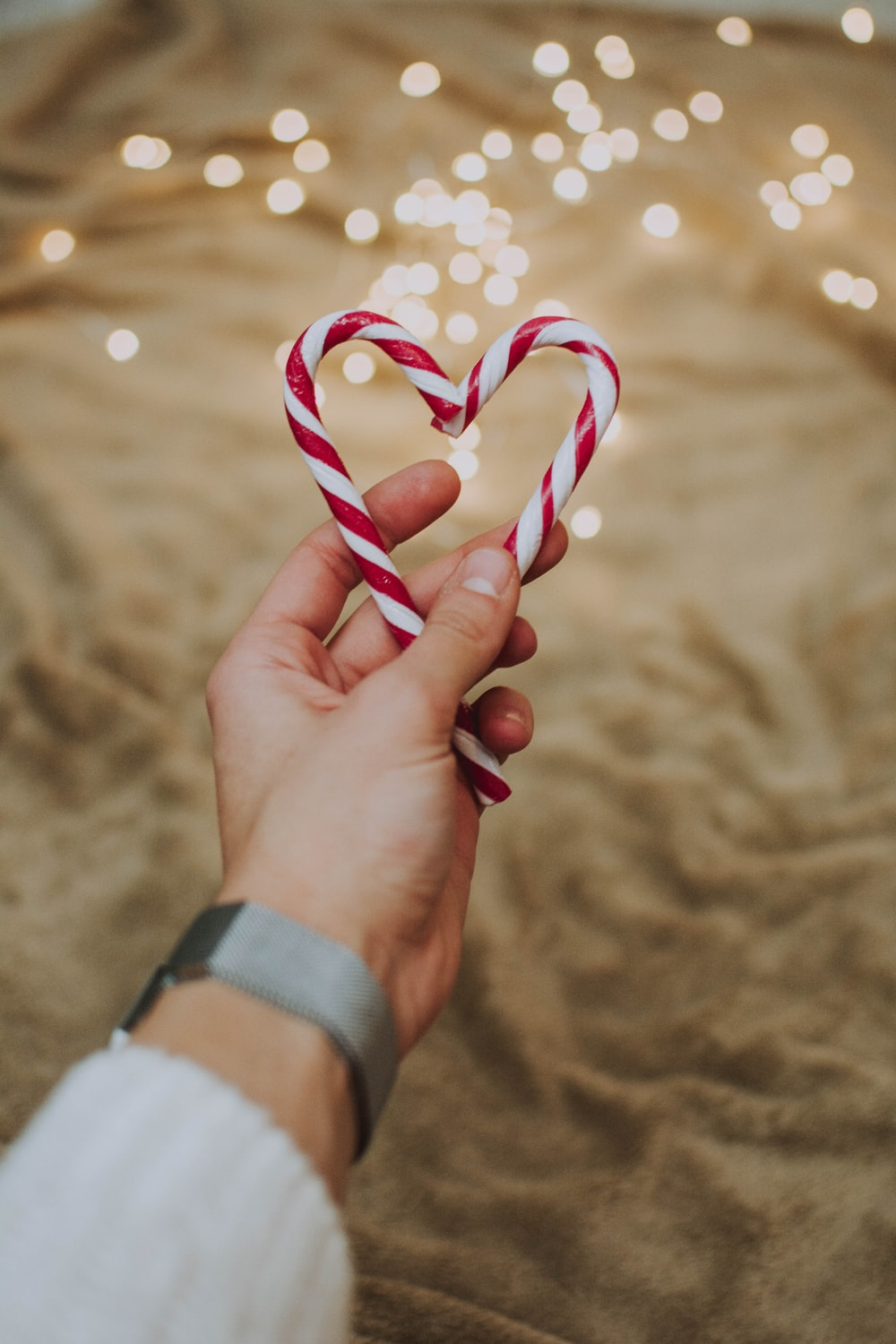 candy heart cane
