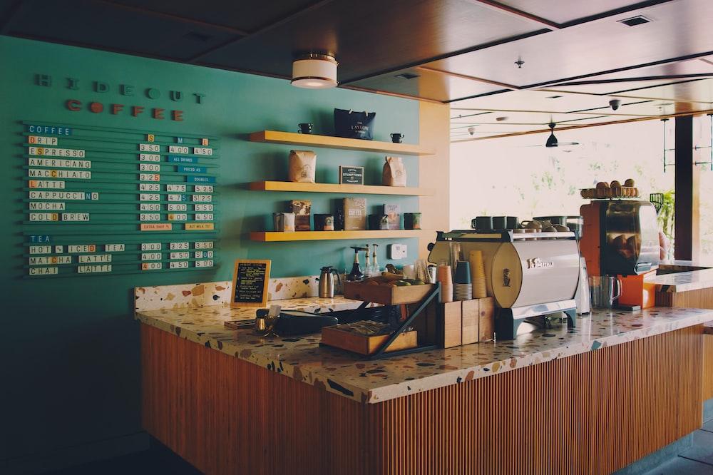 empty coffee bar