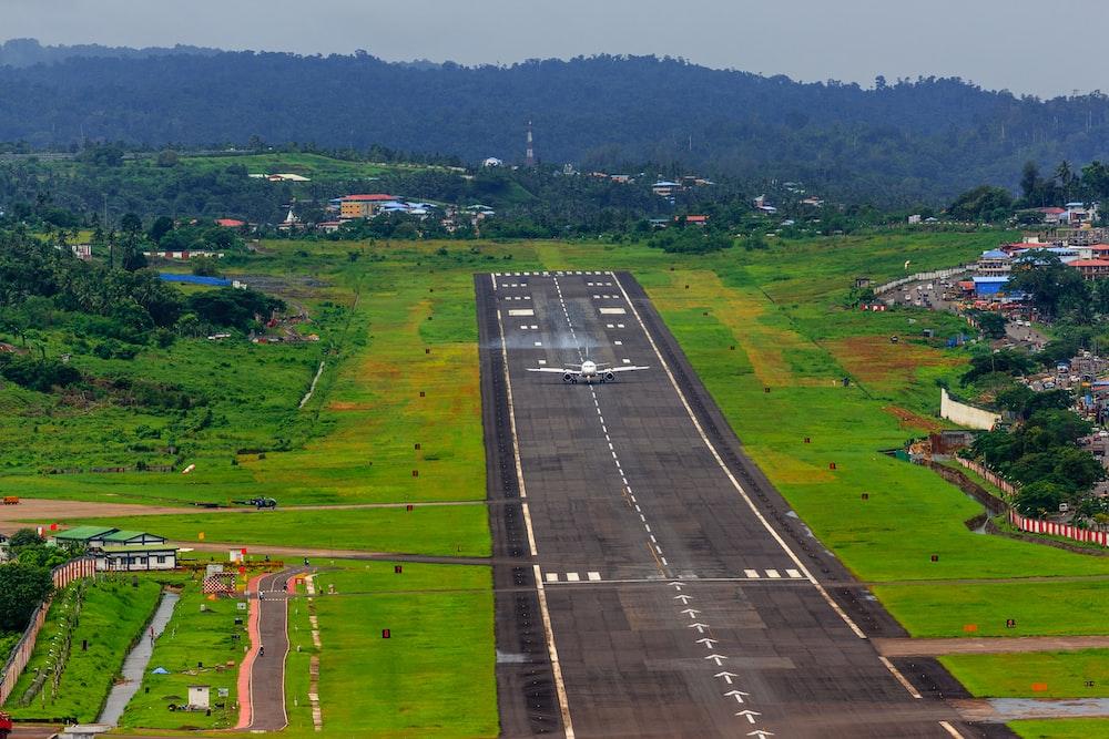 airliner on runway