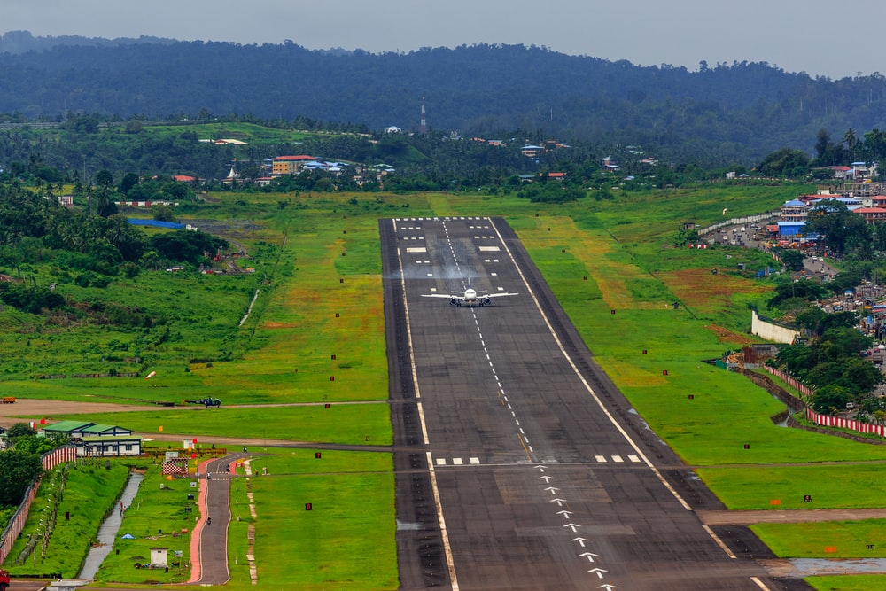 airliner on runway