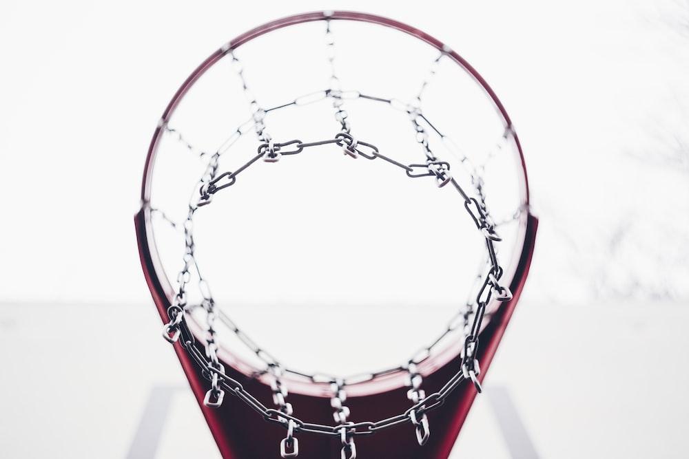 low angle photo of basketball ring