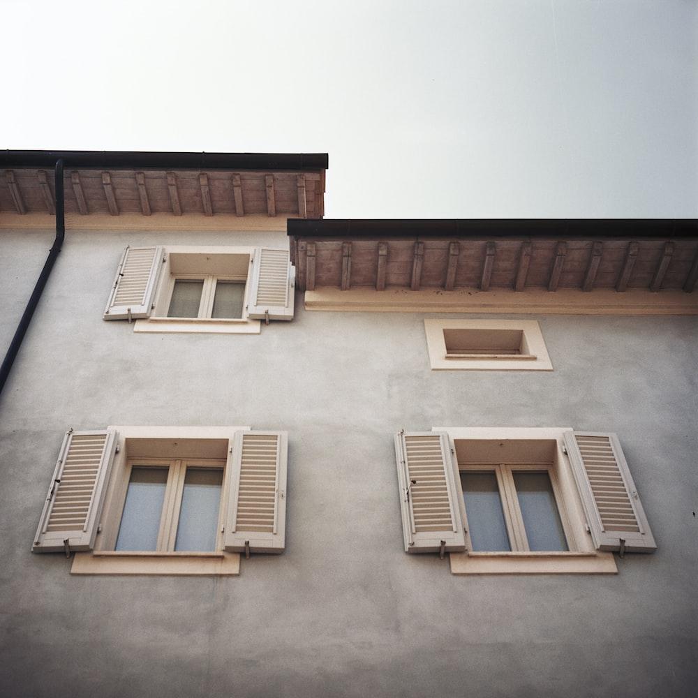 four opened windows