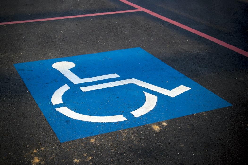 Handicap parking spot.